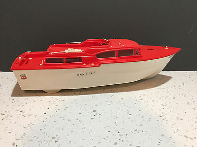 WORKING Toy Boat Phillips 66 Yacht advertise Plastic Battery Operated 1960s logo