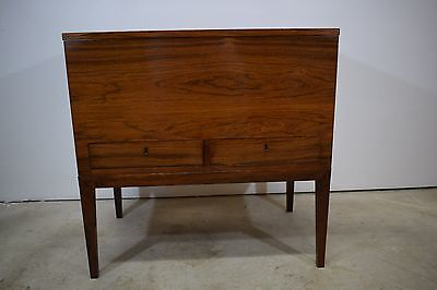 Danish mid century rosewood cabinet with two drawers, Preben Henning Nielsen