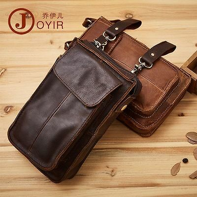 bdd73e1ca Mens Genuine Leather Hook Cell Mobile Phone Belt Pouch Purse Fanny Waist Bag
