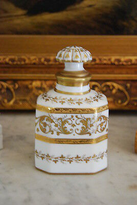 Magnificent Tallec A Paris France White & Gold Empire Style Perfume Bottle
