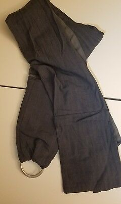 Authentic Maya Wrap Lightly Padded Infant/Baby RingSling Carrier GRAPHITE Medium