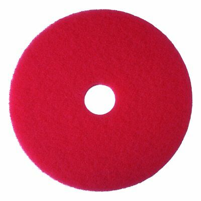 "12"" Red Floor Buffer Pad 5100 Machine Use And Removes Light Soil Resin Coating"