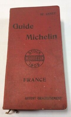 rare guide michelin rouge 1909 superbe etat complet