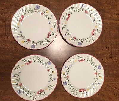 Johnson Brothers Summer Chintz England 1883 Stamp Lot Of 4 Bread Plates