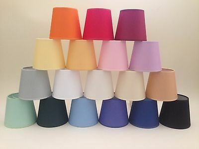 Small Clip On Candle Lampshade Ceiling Light Shade Handmade Cotton Fabric