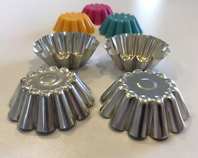 """~(x8 PACK) PREMIUM METAL """"MOULDS""""~SOY WAX TART/MELT/CANDLE MAKING~"""