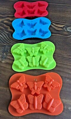"🦋~x1 SILICONE ""BUTTERFLY"" TRAY MOULD (DIY MINI SOY WAX TARTS/SOAPS/CHOCS)"