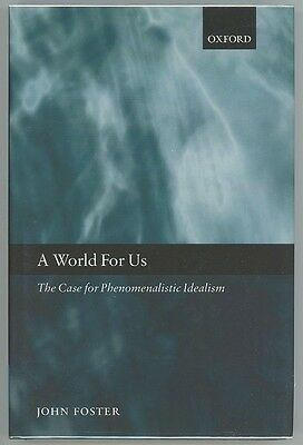 A WORLD FOR US  by  JOHN FOSTER  1ST EDITION  HARDCOVER