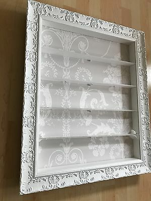 5 Tier Nail Polish beautifully hand crafted Wall Mounted Display in WHITE/GREY