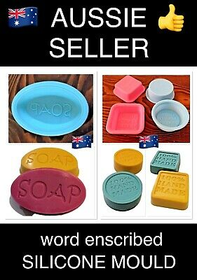 "x1 D.I.Y SOAP MAKING INDIVIDUAL SILICONE MOULD~""100% HANDMADE"" ENSCRIBED~"
