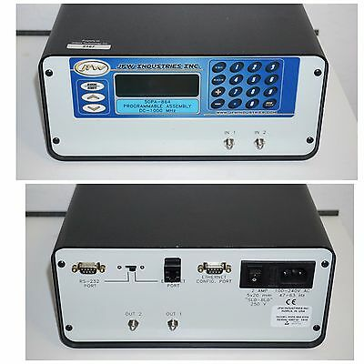 JFW 50PA-864 50ohm MULTIPLE PROGRAMMABLE ATTENUATOR SYSTEM w/ETHERNET DC 1Ghz