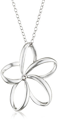 Hot Diamonds Plumeria Silver Diamond Pendant with 40 cm Chain + 5 cm Extender