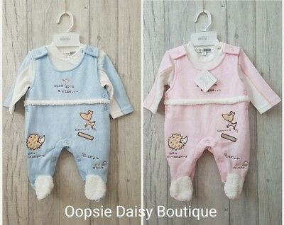 Baby Boys Girls Lovely Woodland Friends 2 Piece Dungaree Suits - Jogger Style ☆