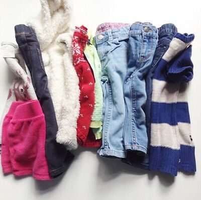 Girl's 10 Piece Clothing Whole Lot Size 12 Months Mixed Brands