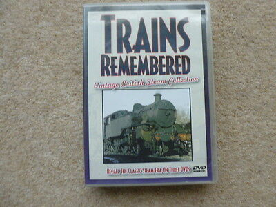 Trains Remembered 3 Dvd Set Vintage British Steam Collection