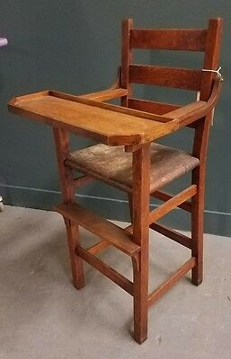 GUSTAV STICKLEY ARTS  & CRAFTS HIGH CHAIR Mission Oak Antique CRAFTSMAN Branded
