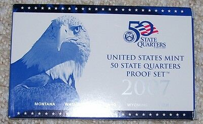 2007 - Us Mint State Quarters Proof Set - 5 Coins