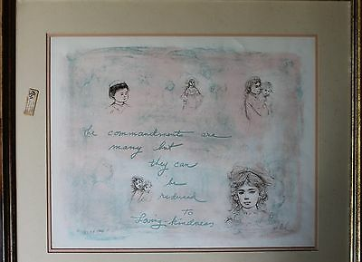 EDNA HIBEL lithograph pencil signed/numbered