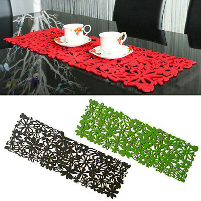 Chic Table Runner Soild Color Flower Mat Fashion Wedding Party Home Decoration