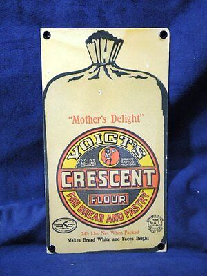 Reproduction Of A Vintage Metal Advertising Sign - Voitg & Crescent Flour