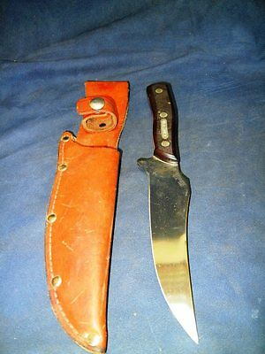 "Schrade Usa 15Ot Old Timer 10 1/2"" Knife With Leather Sheath"