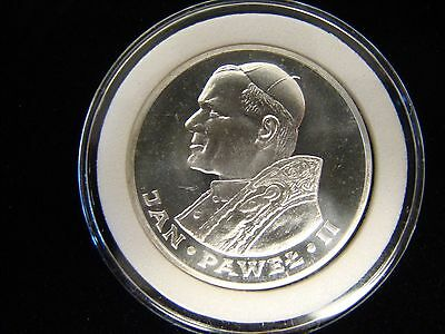 1983 POLAND ZLOTYCH 1000 Silver Unc - Visit of Pope John Paul II - Capsule
