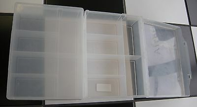 TWO Made is USA Heavy Duty Plastic Storage Holds 2000 Trading Sports Cards