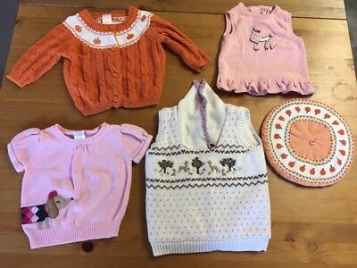 5 Piece Janie And Jack And Gymboree Sweater  Lot