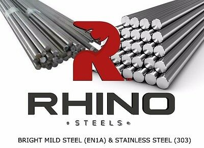 CHEAP 10mm to 20mm Bright Mild Steel EN1A - Round Solid Metal Bar Rod
