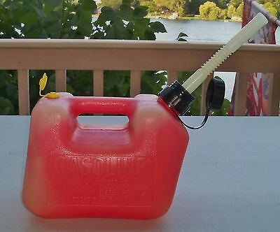 Blitz 1+ Gallon Gas Can with Top Vent Old Style Spout Clean Inside  USA Used
