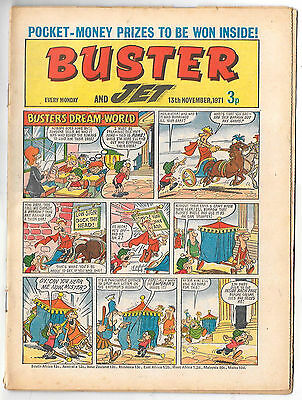 Buster 13 Nov 1971 (top grade) Faceache, Galaxus, Fishboy, Clever Dick...