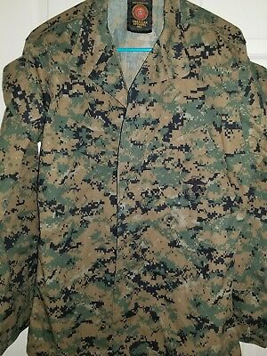 USMC US Marine Corps Woodland MARPAT Digital Camo MCCUU Jacket Small Regular