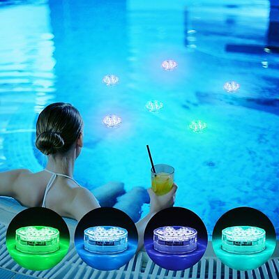 Submersible Waterproof Led Lights IR Remote Control For Aquariums, Ponds & Pools