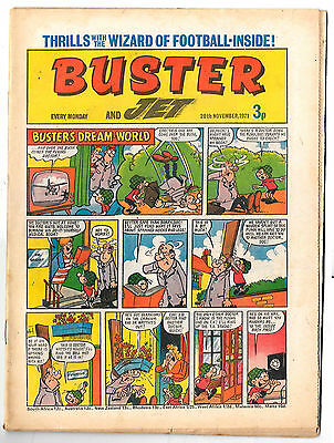 Buster 20 Nov 1971 (top grade) Faceache, Galaxus, Fishboy, Clever Dick...