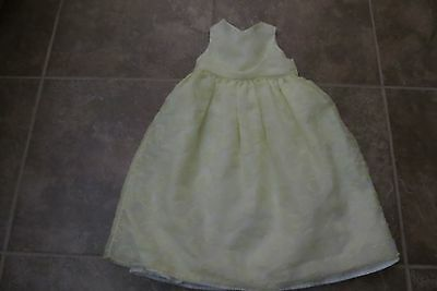 Cherokee Brand Toddler Girls Yellow Sleeveless Special Occasion Dress Size 4T
