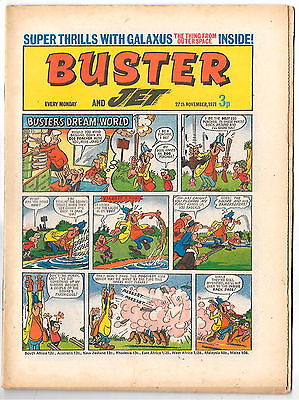 Buster 27 Nov 1971 (top grade) Faceache, Galaxus, Fishboy, Clever Dick...