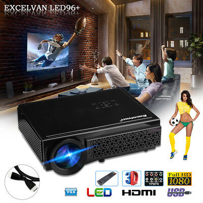1200lm WIFI Android 1080P 4K LED Projector Home Cinema Cinema HDMI/USB/AV/VGA/TF