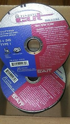 "50 pack 5"" x .045 x 7/8 ultimate cut-off wheels, type 1, United Abrasives Sait"