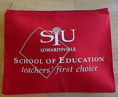 Zipper Case Bag--Unused SIUE Red Collectible for Teachers, Educators