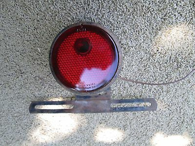 Vintage 6 Volt Tail Light With Tag Holder, Glass Lens, Plymouth, Dodge.