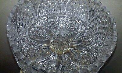 Vintage MId Century Crystal  Bowl-with  Cherub and Marble Base