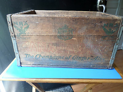 Vintage Nra Canada Dry Ginger Ale Wooden Crate