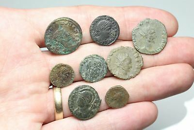 ROMAN IMPERIAL. Lot of 8 Nice late Roman bronzes and Antoniniani