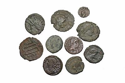 ROMAN IMPERIAL. Lot of 10 Nice late Roman bronzes and Antoniniani