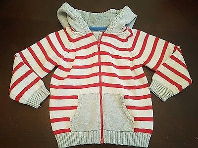 boys 18-24 months knitted cardigan sweater top jumper jacket hoodie clothes next