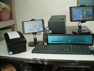 Two Station  Tablet Restaurant Pizza  Delivery Bar Fast Food Pos System Ursa 3
