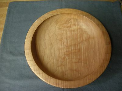 "Hand Turned Maple Wood Bowl Platter - by Norman ""Pat"" Blake"