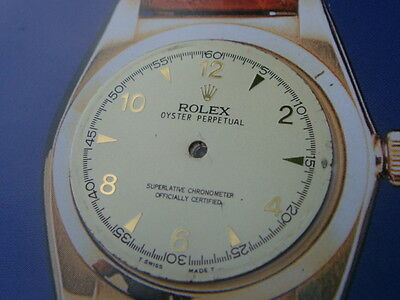 Rolex Bubbleback Oyster vintage replacement watch dial project part 5015 25mm