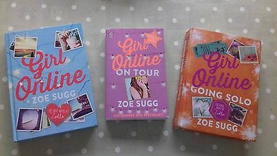 """3 book collection Zoella / Zoe Sugg """"Girl Online"""" books / On Tour / Going Solo"""