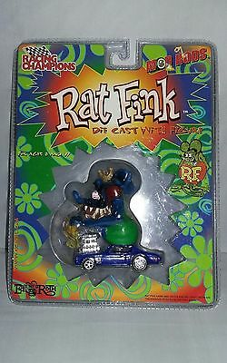"Rat Fink Ed Big Daddy Roth Blue Chevelle Diecast With ""rat Fink Figure"" Nip Rare"
